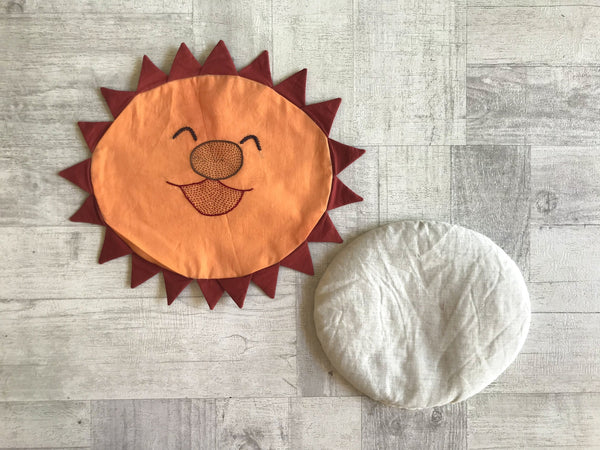 Sun Mustard seeds/Rai Baby Pillow - Whitewater