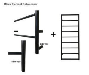 Heated Black Towel Rails - Framed Ladder radiator 1260