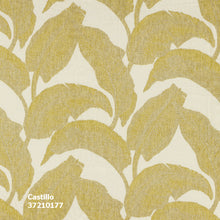 Palm print yellow - Botanical linen voile