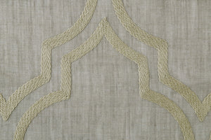 Spello - Extra wide Embroidered Linen mix voile