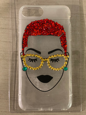 (New) Short Cut Beauty - Red Bling iPhone Case
