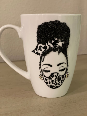 (New) Masked Beauty - Large Bling Coffee Mug