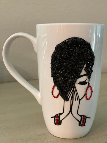 (New) Praying Hands - Large Bling Coffee Mug