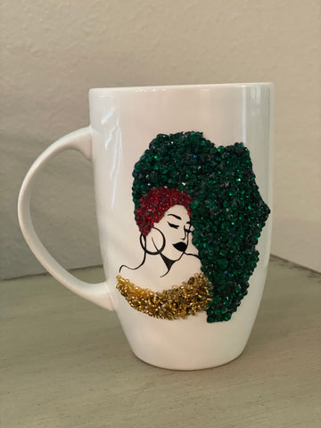 (New) Black Queen - Large Bling Coffee Mug