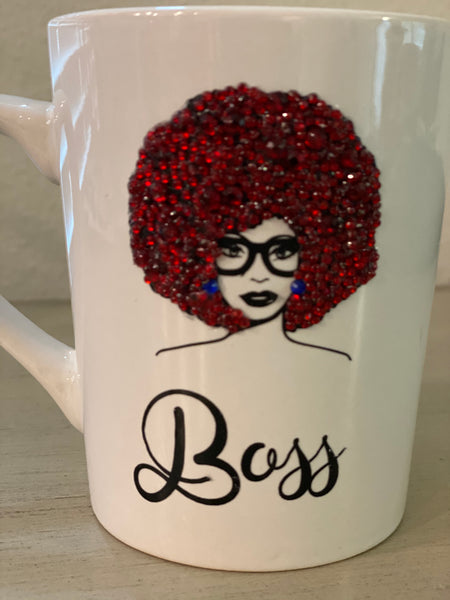 (New) Boss Beauty - Red Bling Coffee Mug