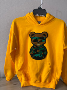 "(New) Dope Bear - Custom ""Reworked"" Hoodie Boys Size Large (14)"