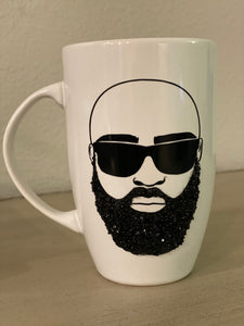 (New) Bearded Man -  Large Coffee Mug