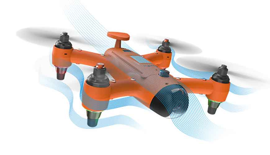 Aerodynamic Waterproof Follow Me Drone