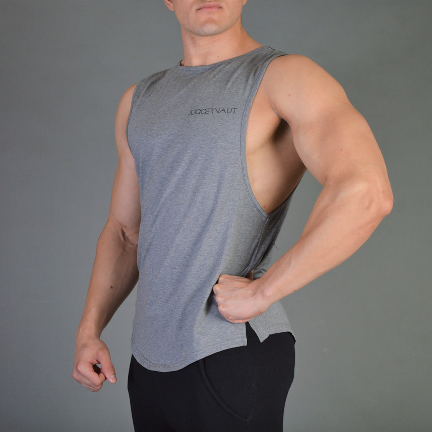 Juggernaut Scoop Muscle Tank - Graphite