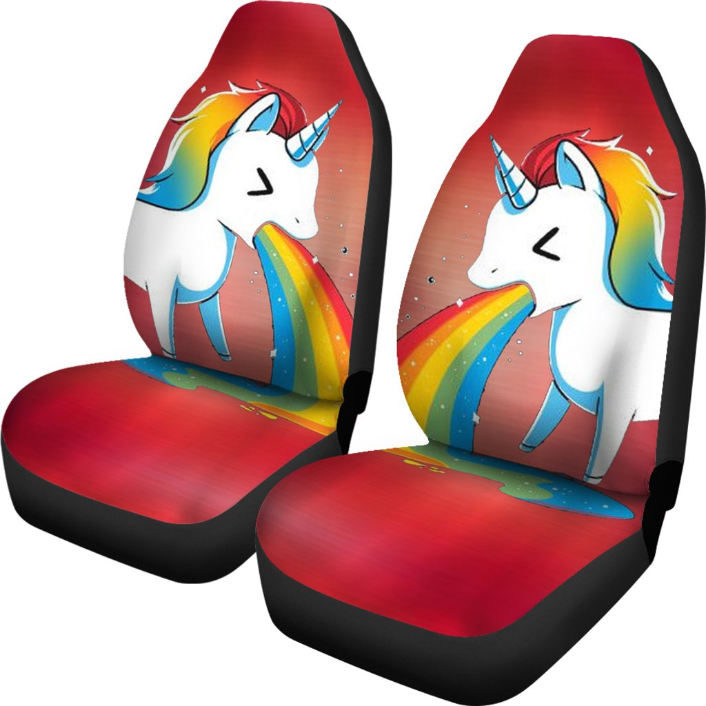 Unicorn Rainbow Print Car Seat Covers Free Shipping