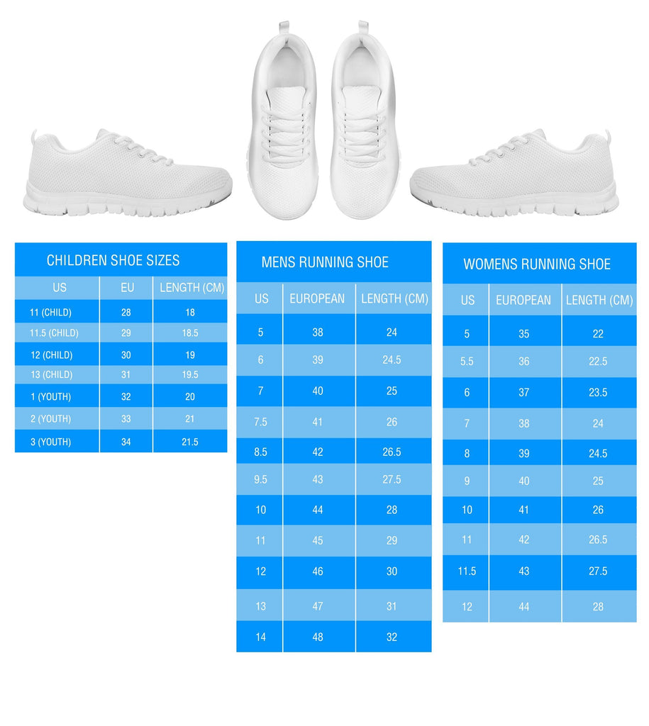 Casual Comfortable Sneakers Running Shoes Golden Retriever On Deep SkyBlue Print Running Shoes for Women
