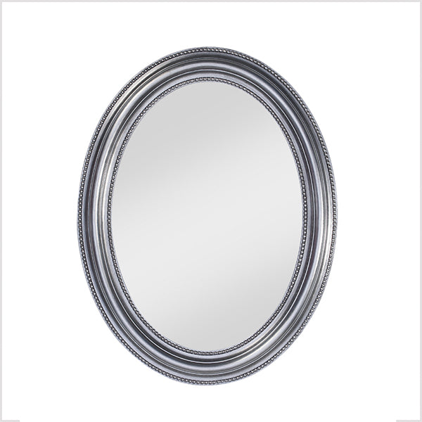 Deknudt Mirrors Pearl Silver Oval Mirror-ex display clearance