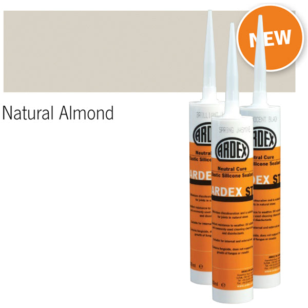 Ardex ST Neutral Cure Elastic Silicone Sealant natural almond