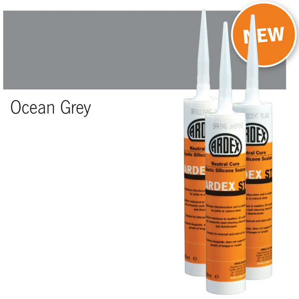 Ardex ST Neutral Cure Elastic Silicone Sealant ocean grey