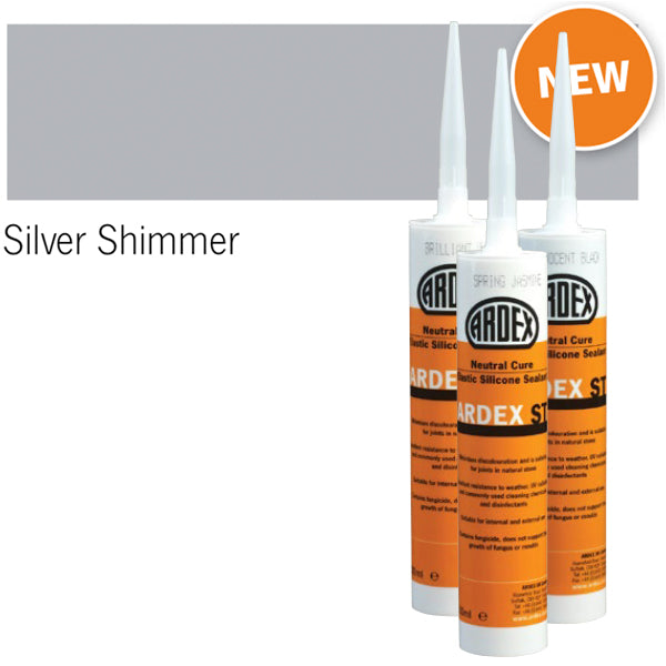Ardex ST Neutral Cure Elastic Silicone Sealant silver shimmer