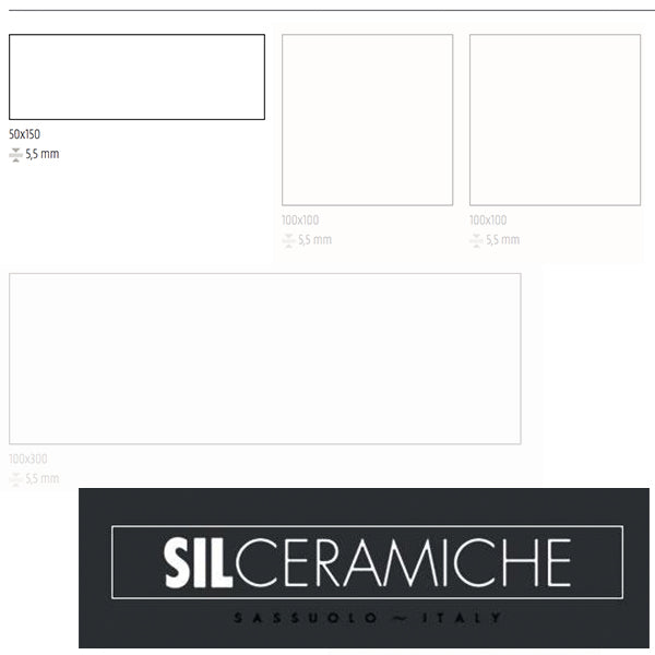 Sil Ceramiche More 5 Ice (50 x 150) large format tile
