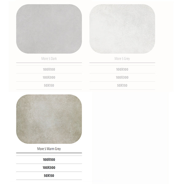 Sil Ceramiche More 5 Warm Grey (50 x 150) large format tile