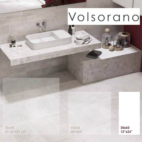 Volsorano Grey (30 x 60) Porcelain large format wall floor tile