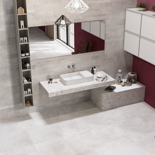 Volsorano White (80 x 80) Porcelain large format wall floor tile