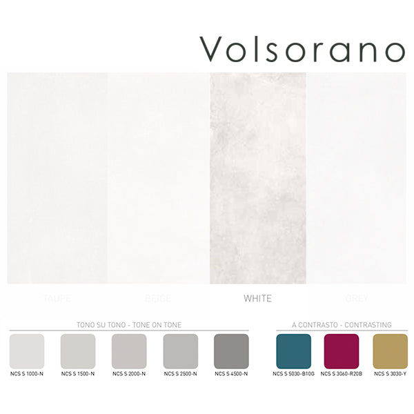 Volsorano White (60 x 60) Porcelain large format wall floor tile
