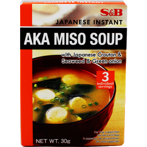 S&B 青葱烤碎面包块海带味噌汤 S&B AKA Miso Soup with Japanese Crouton & Seaweed & Green Onion 30g