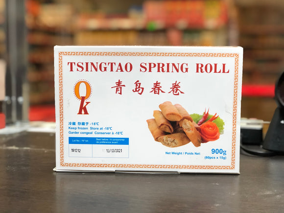 青岛 素春卷 六十个装 Tsing Tao Vegetable Spring Roll 60pcs 900g