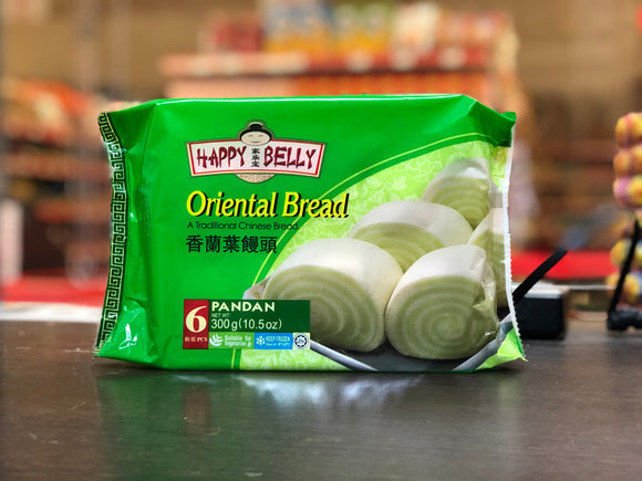 家乐宝 香兰叶馒头 Happy Belly Oriental Bread Pandan 300g