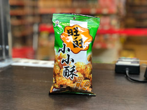 旺旺 香葱鸡汁味小小酥 Wang Wang Chicken Flavour Mini Fried Rice Crackers 60g