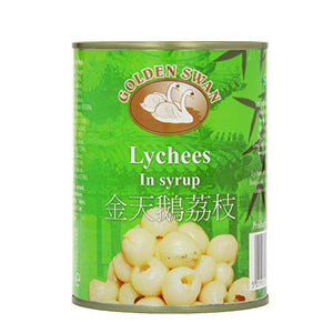 金天鵝 荔枝 Golden Swan Lychees in Syrup 567g