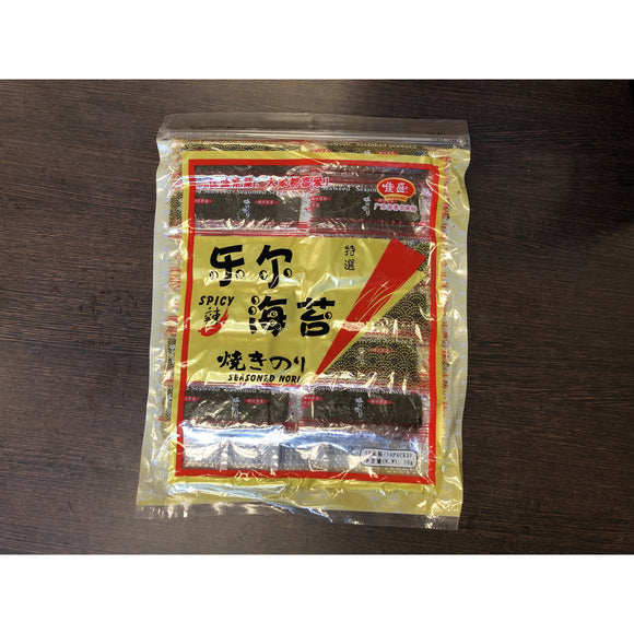 佳盛 即时紫菜辣味 50束装 Jia Sheng Roasted Seaweed Spicy Flavour 50 packs 30g