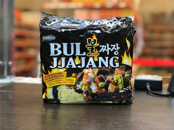 八道 韩国辣炸酱面 四连包 Paldo Bul Jjajang (Korean Spicy Black Bean Noodle) Multipack 203g x 4