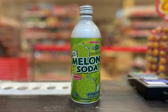 三佳利 日本梳打汽水蜜瓜味 Sangaria Japanese Soda Drink Melon Flavour 500ml