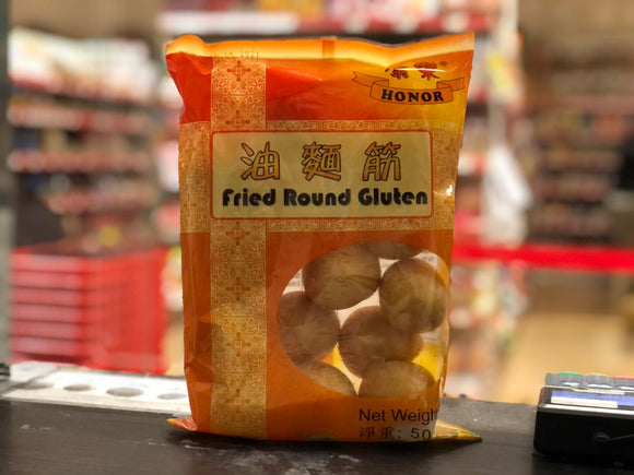 康乐 油面筋 Honor Fried Round Gluten 50g