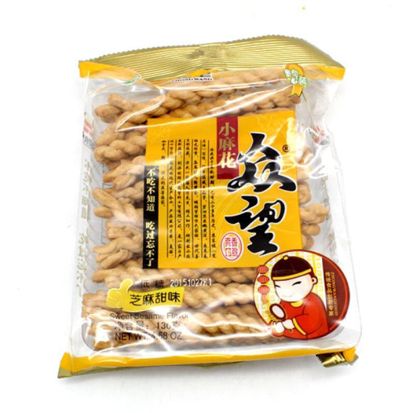 聚望 芝麻甜味小麻花 ZhongWangFood Sweet Sesame Flavour Mini Fried Dough Twist 130g