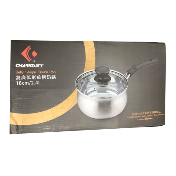 創生 复底弧形單柄奶鍋 Charms Belly Shape Sauce Pan 18cm/2.4L