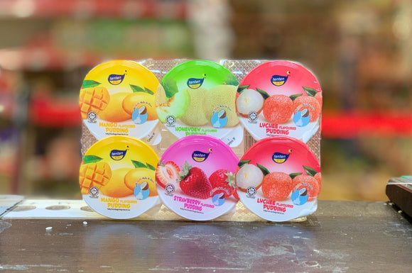 TenTen 混合口味布丁 Nata De Coconut Pudding Mixed Flavour 6x80g