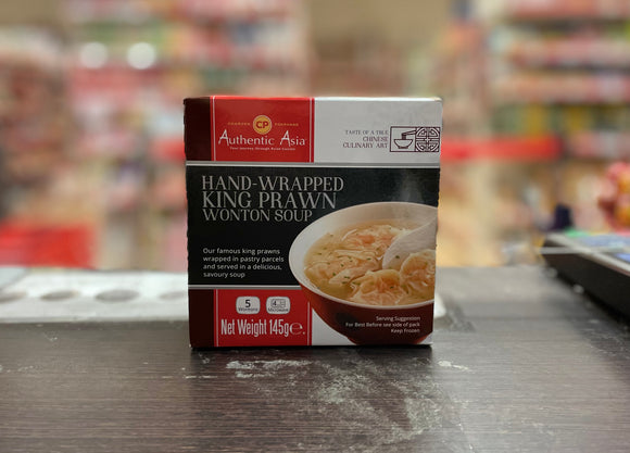Authentic Asia 手工馄饨汤 Authentic Asia Hand-Wrapped King Prawn Wonton Soup 145g
