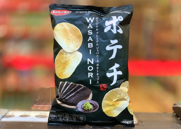 Koikeya 日本芥末薯片 Japanese Wasabi Nori Potato Crisps 100g