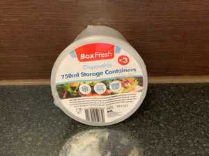 BoxFresh 750毫升容器三连装 Disposable 750ml Storage Containers