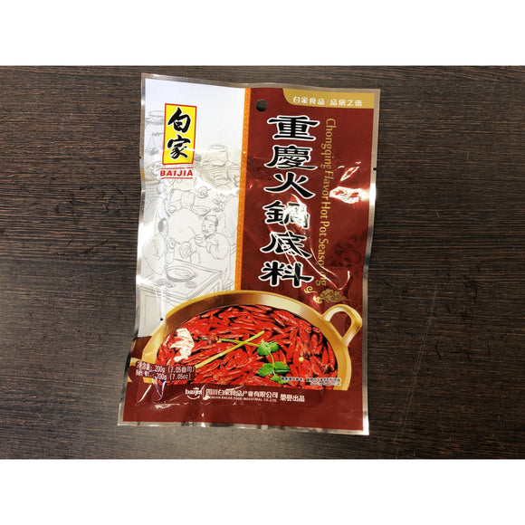 白家 重庆火锅底料 Baijia Chongqing Flv Hot Pot Seasoning 200g