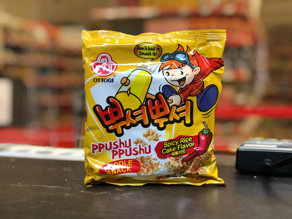 Ottogi 辣炒年糕味脆面 Spicy Rice Cake Flv Noodle Snack 90g