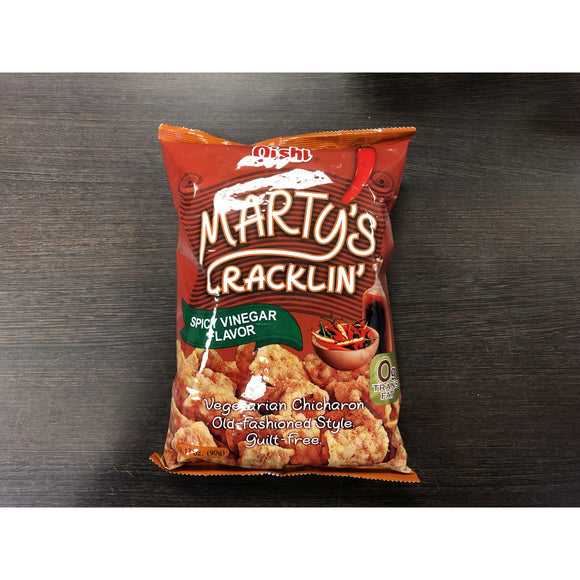Oishi 素豬皮 香辣醋味 Marty's Cracklin Green Pea Snack Spicy Vinegar Flavour 90g