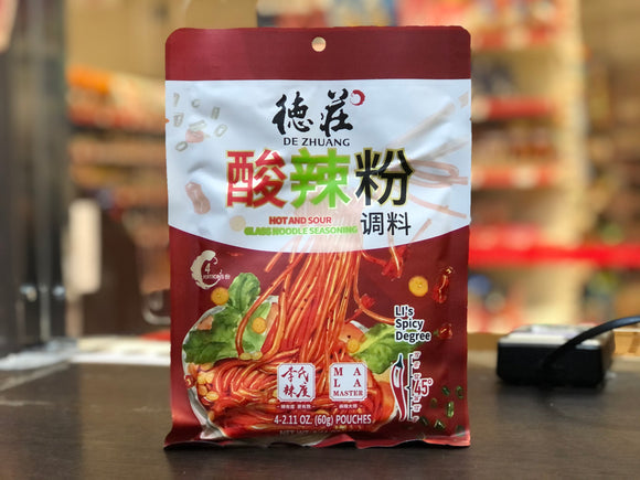 德庄 酸辣粉调料 De Zhuang Hot and Sour Glass Noodle Seasoning 240g