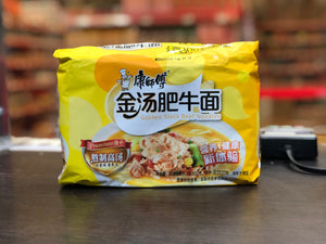 康师傅 金汤肥牛面 五连包 Kangs Golden Stock Beef Instant Noodle Multipack 108g x 5