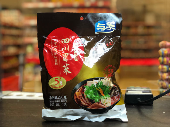与美 懒人大厨 四川冒菜 麻辣味 YuMei Sichuan Instant Vegetables (Spicy Flavour) Bag 288g