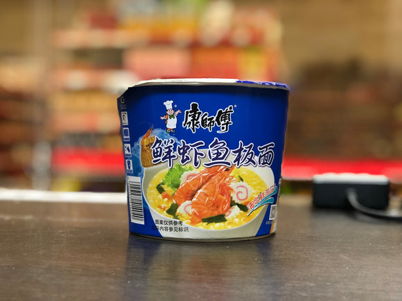 康师傅 鲜虾鱼板面 KSF Instant Bowl Noodle Artificial Fish Flv 101g