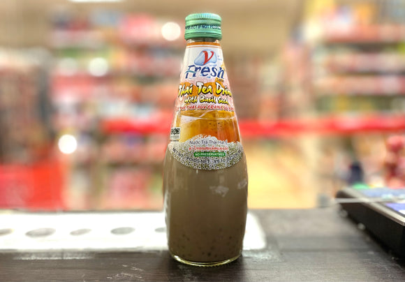 V-Fresh 明列子泰式奶茶 Thai Tea Drink with Basil Seeds 290ml