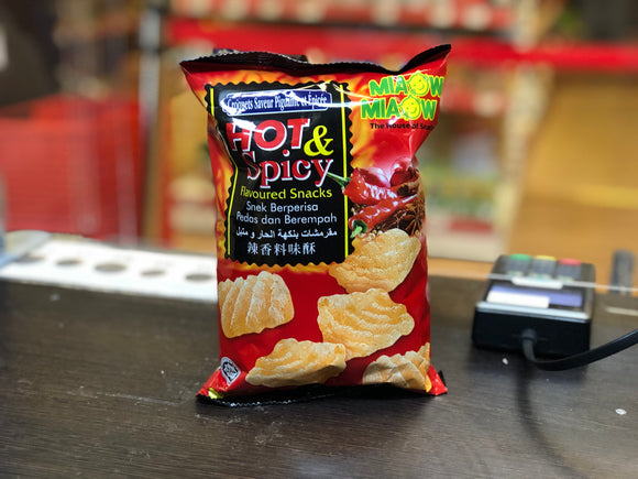 Miaow Miaow 辣香料味酥 Hot and Spicy Flavoured Snacks 60g