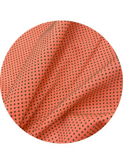 Cut from a found remnant of pristine swiss dot fabric this 3inch by 80 inch slim tie is a peach color can be styled numerous ways