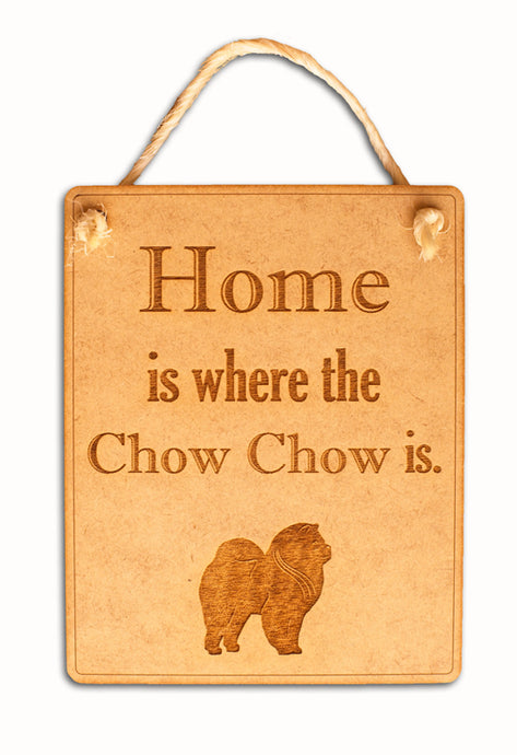Chow Chow Wall Plaque - Natural